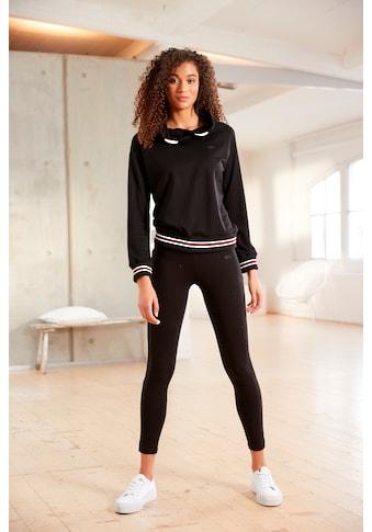 H.I.S Sweatshirt, mit geringelte Rippbündchen kaufen