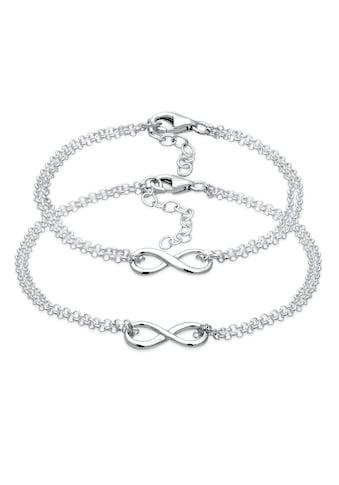 Elli Schmuckset »Mutter Kind Set Infinity Endlos Symbol 925 Silber« kaufen