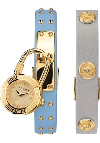 Versace Schweizer Uhr »Medusa Lock Icon, VEDW00419«, (Set, 3 tlg., mit zusätzlichem... kaufen