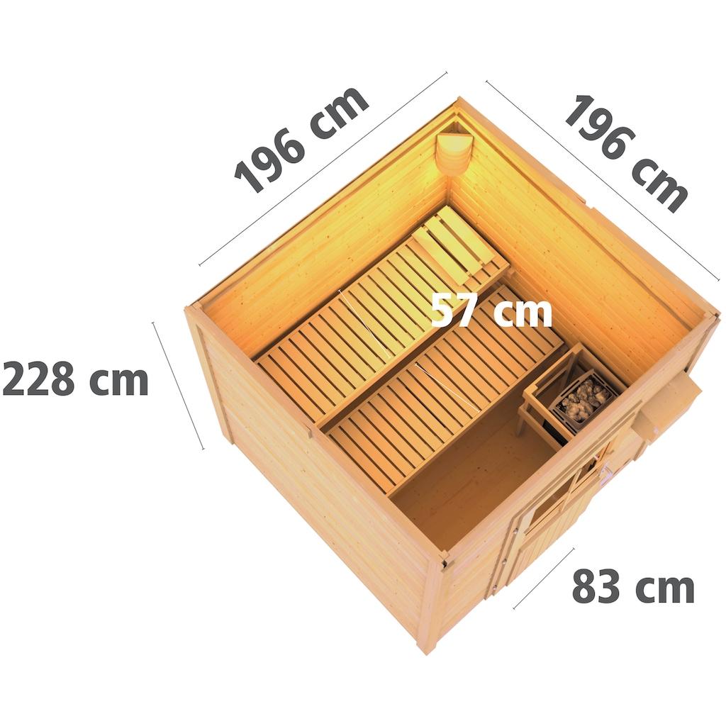 Karibu Saunahaus »Klaas«, 9-kW-Ofen mit ext. Steuerung