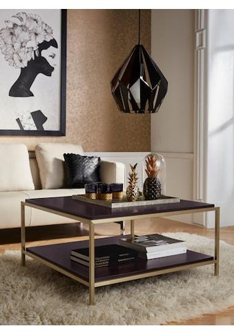 Leonique Couchtisch »Cherlen«, mit zwei Ablageflächen und goldfarbenem Gestell,... kaufen