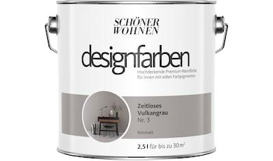 SCHÖNER WOHNEN FARBE Farbe »Designfarben«, Zeitloses Vulkangrau Nr. 3, feinmatt 2,5 l kaufen