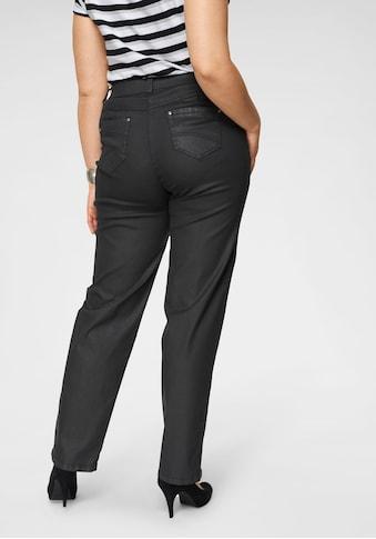 KjBRAND Straight-Jeans »Babsie: bequemer Oberschenkel«, beschichtetes Material kaufen
