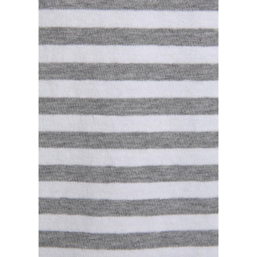 s.Oliver Nachthemd, im Streifenmuster mit Knopfleiste