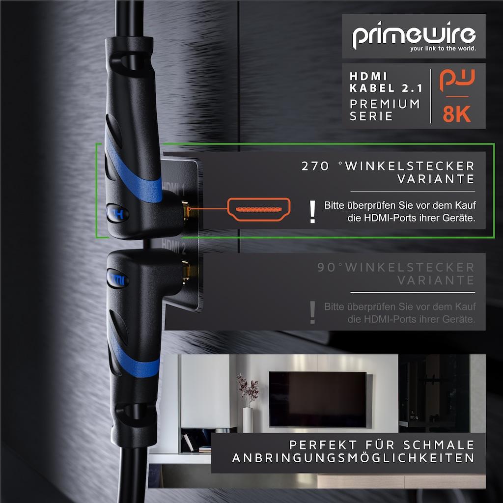 Primewire Premium HDMI 2.1 Kabel 270° gewinkelt