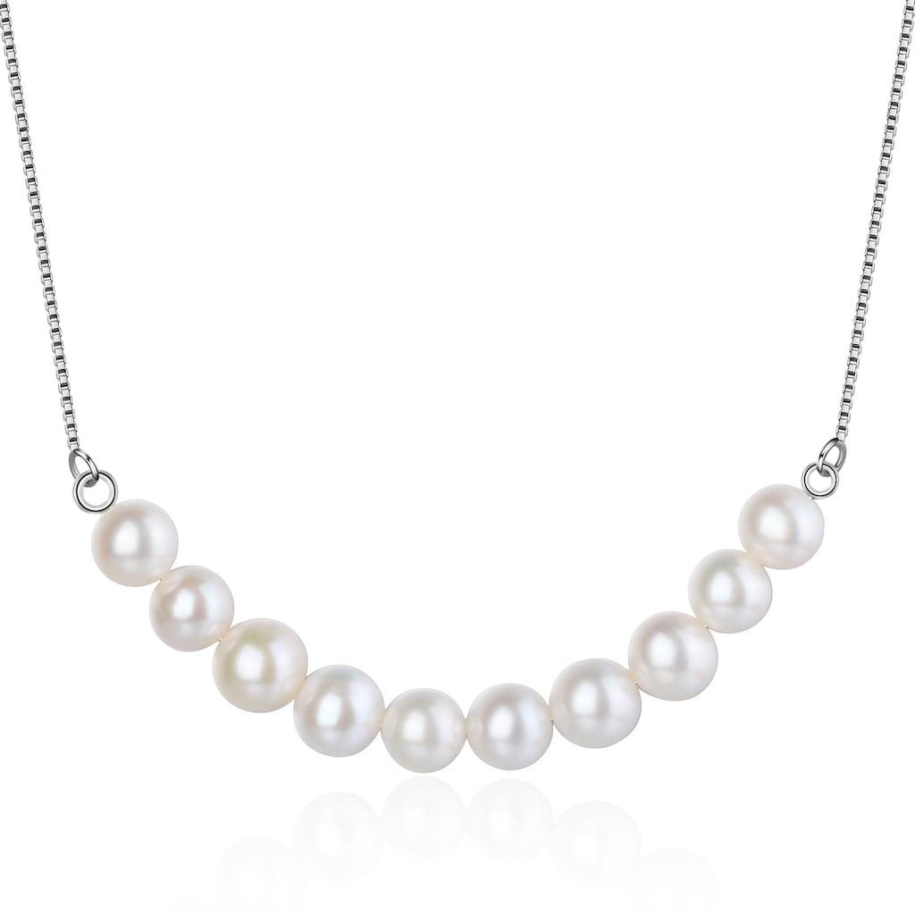 AILORIA Perlenkette »MIYAKO Halskette Silber/weiße Perle«, aus 925 Sterling Silver mit Perlen
