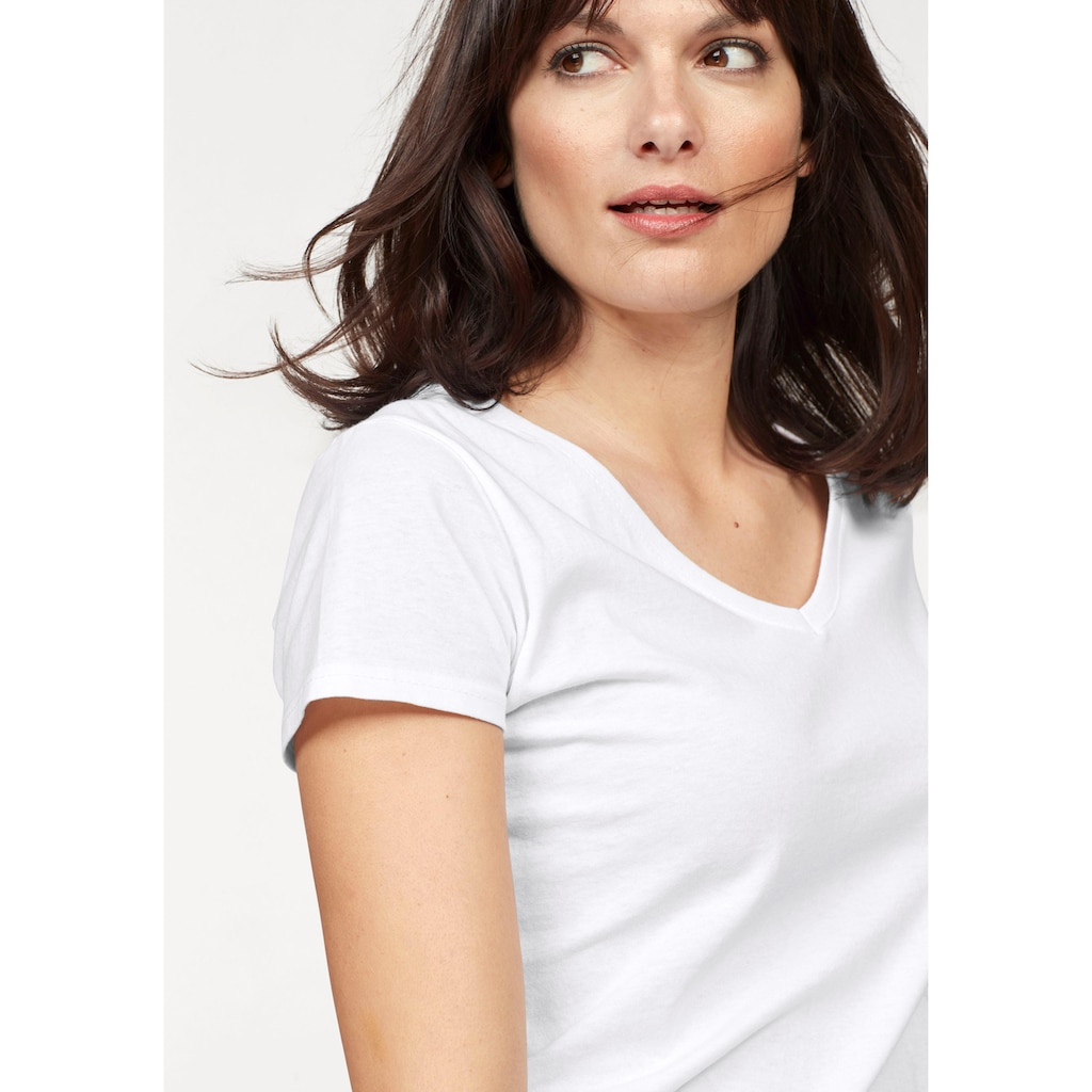 Fruit of the Loom V-Shirt »Lady-Fit Valueweight V-Neck«