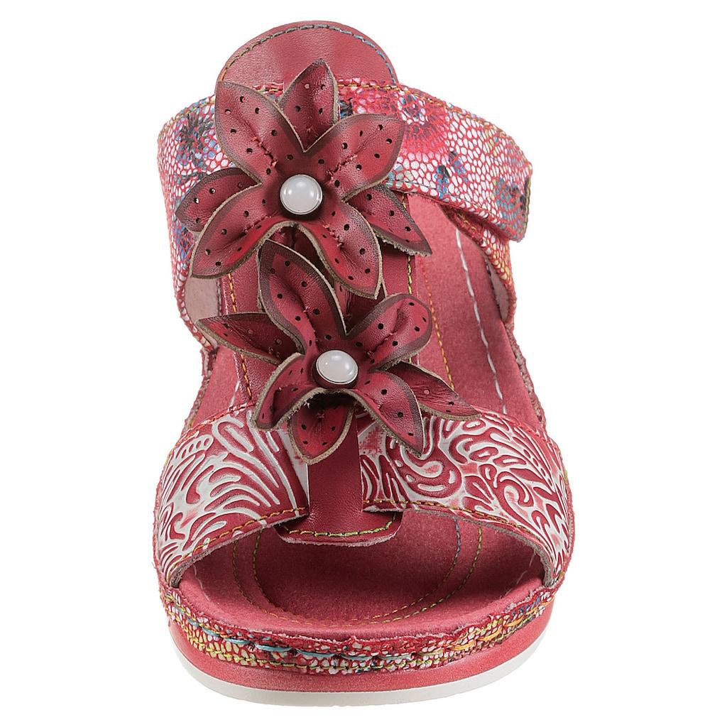 LAURA VITA Pantolette »BRCUELO 83«, mit schönen Blüten verziert
