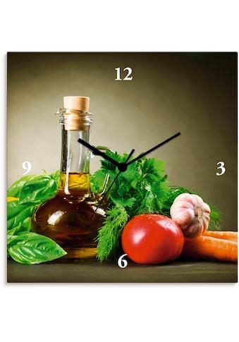 Artland Wanduhr »Gesundes Gemüse und Gewürze«, lautlos, ohne Tickgeräusche, nicht... kaufen