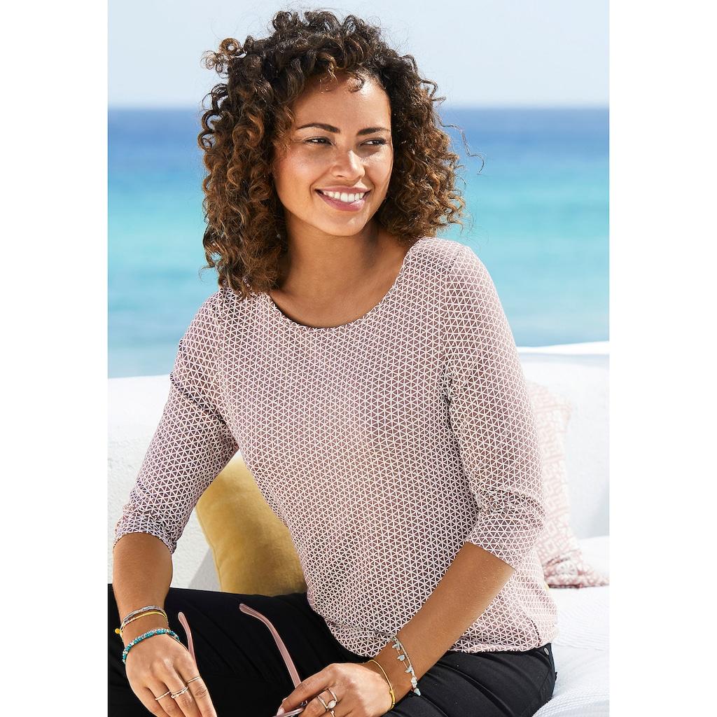Vivance 3/4-Arm-Shirt, mit elastischem Saum