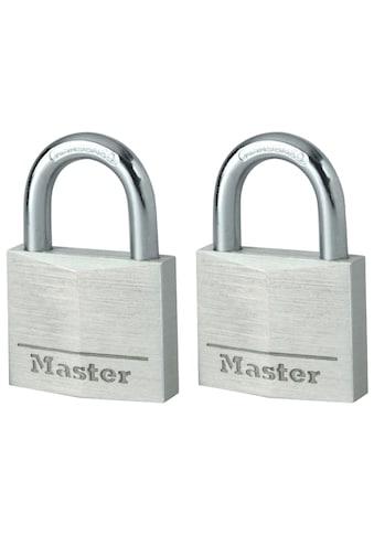 MASTER LOCK Vorhängeschloss 40 mm aus Aluminium, 2er Pack gleichschließend kaufen