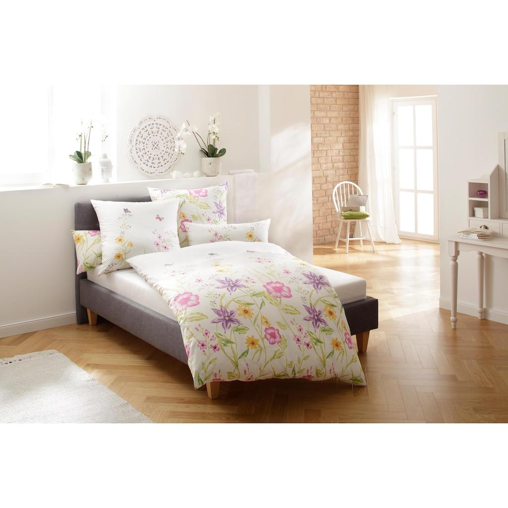 Home affaire Bettwäsche »Sarina«, mit schönen Blumen