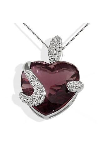 goldmaid Collier, Silber 925 turmalinfarbener und weisse Zirkonia Herz kaufen
