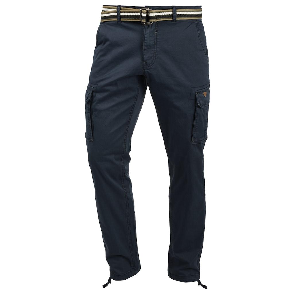 Blend Cargohose »Brutus«, (mit Gürtel), lange Hose mit Seitentaschen und Gürtel