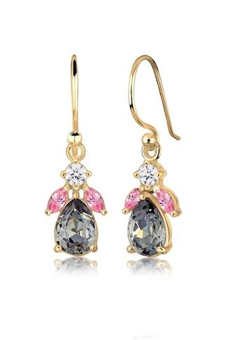 Elli Paar Ohrhänger »Blume Swarovski® Kristalle 925 Silber vergoldet« kaufen