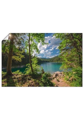 Artland Wandbild »Eibsee«, Gewässer, (1 St.), in vielen Größen & Produktarten -... kaufen