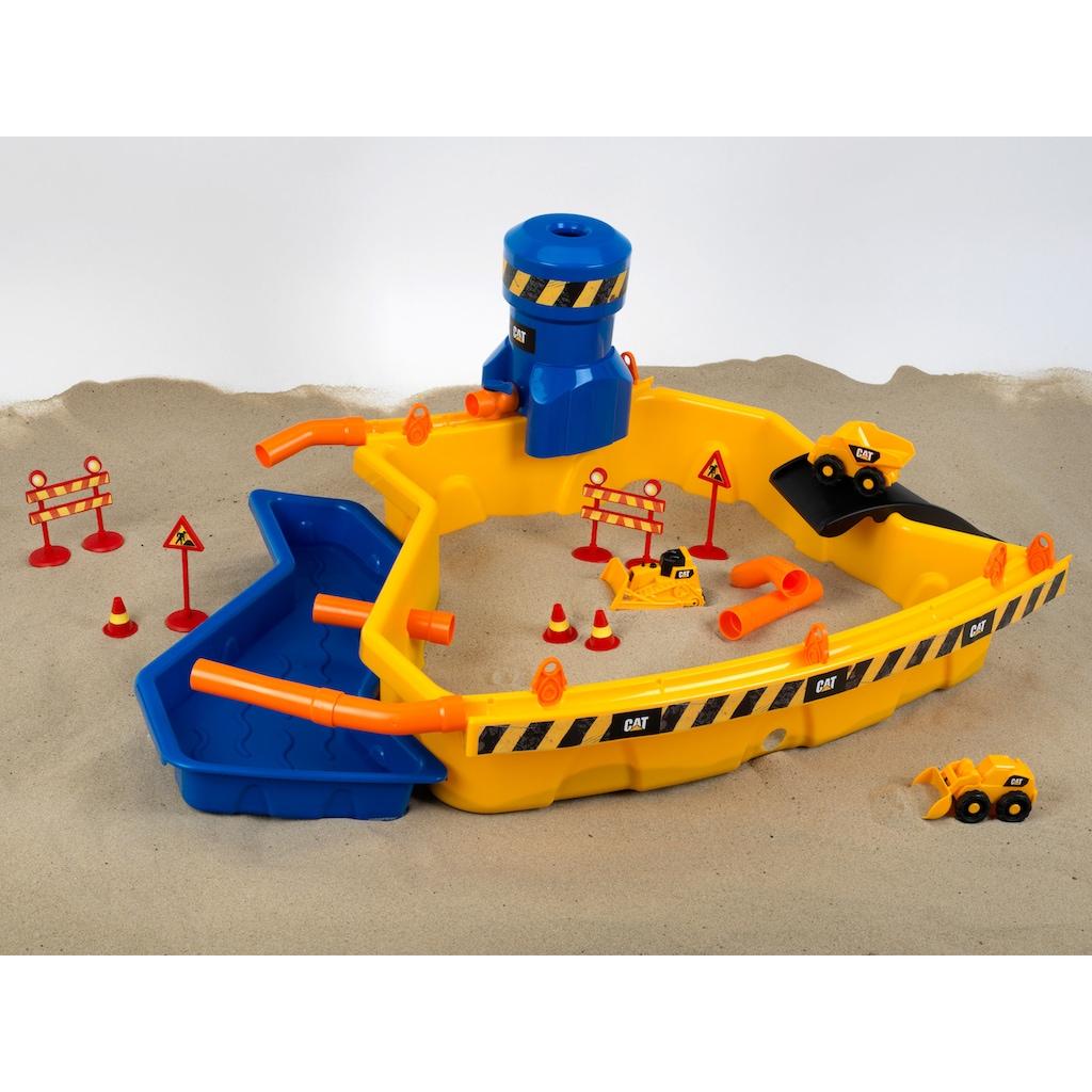 Klein Spielzeug-Radlader »Caterpilar CAT Sandbaustelle Mega«, mit 3 Cat® Fahrzeugen; Made in Germany