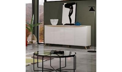 KITALY Sideboard »ALADINO«, Breite 184 cm, komplett Hochglanz, ohne Beleuchtung kaufen