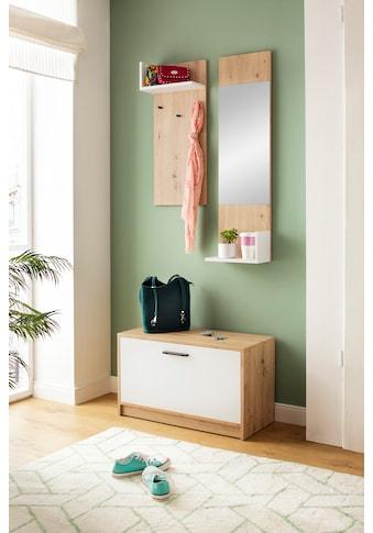 my home Garderoben-Set »Geo«, (3 St., Set mit Hakenplatte, Spiegel und Bank), 3tlg kaufen