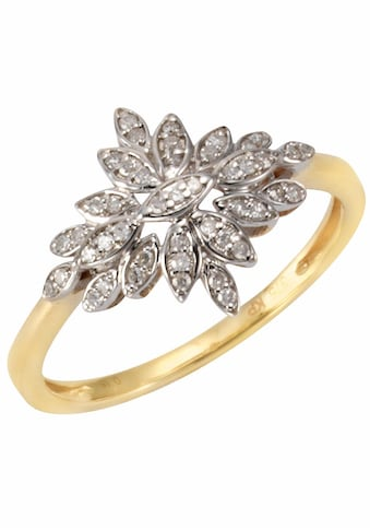 Firetti Diamantring »Bicolor-Optik, Blüten-Design«, mit Diamanten kaufen