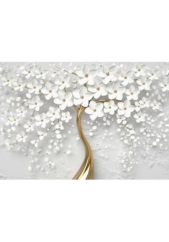 Consalnet Vliestapete »Baum mit Blütten/gold«, botanisch kaufen
