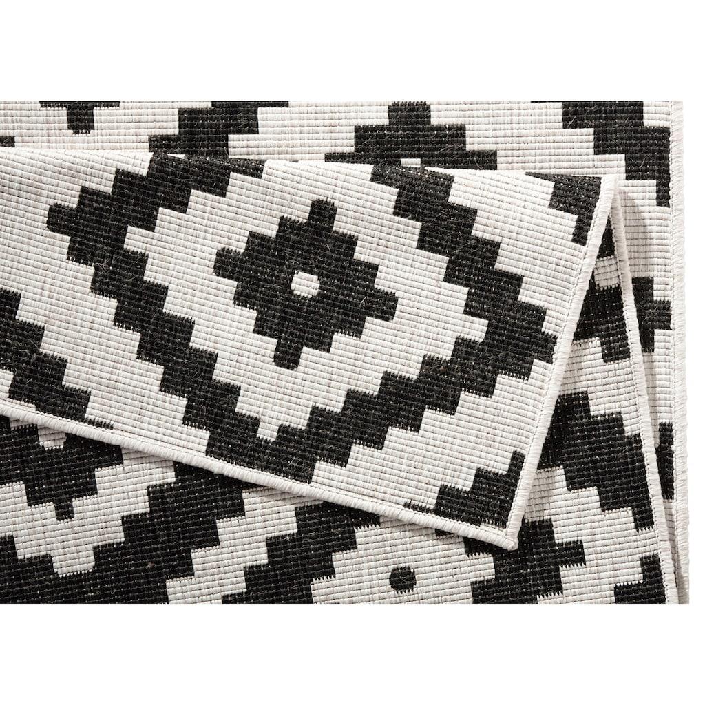 bougari Teppich »Malta«, rechteckig, 5 mm Höhe, Flachgewebe, In- und Outdoor geeignet, Rauten-Design, Für Terasse und Balkon, Wohnzimmer