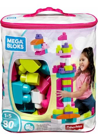 MEGA BLOKS Spielbausteine »Mega Bloks Bausteinebeutel, Groß 80 Teile, pinkfarben«, (80... kaufen
