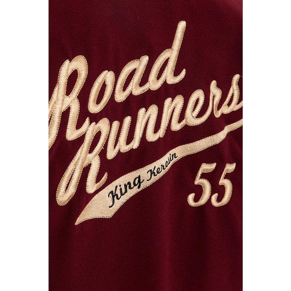 KingKerosin Bomberjacke »Road Runners«, im Retro Look