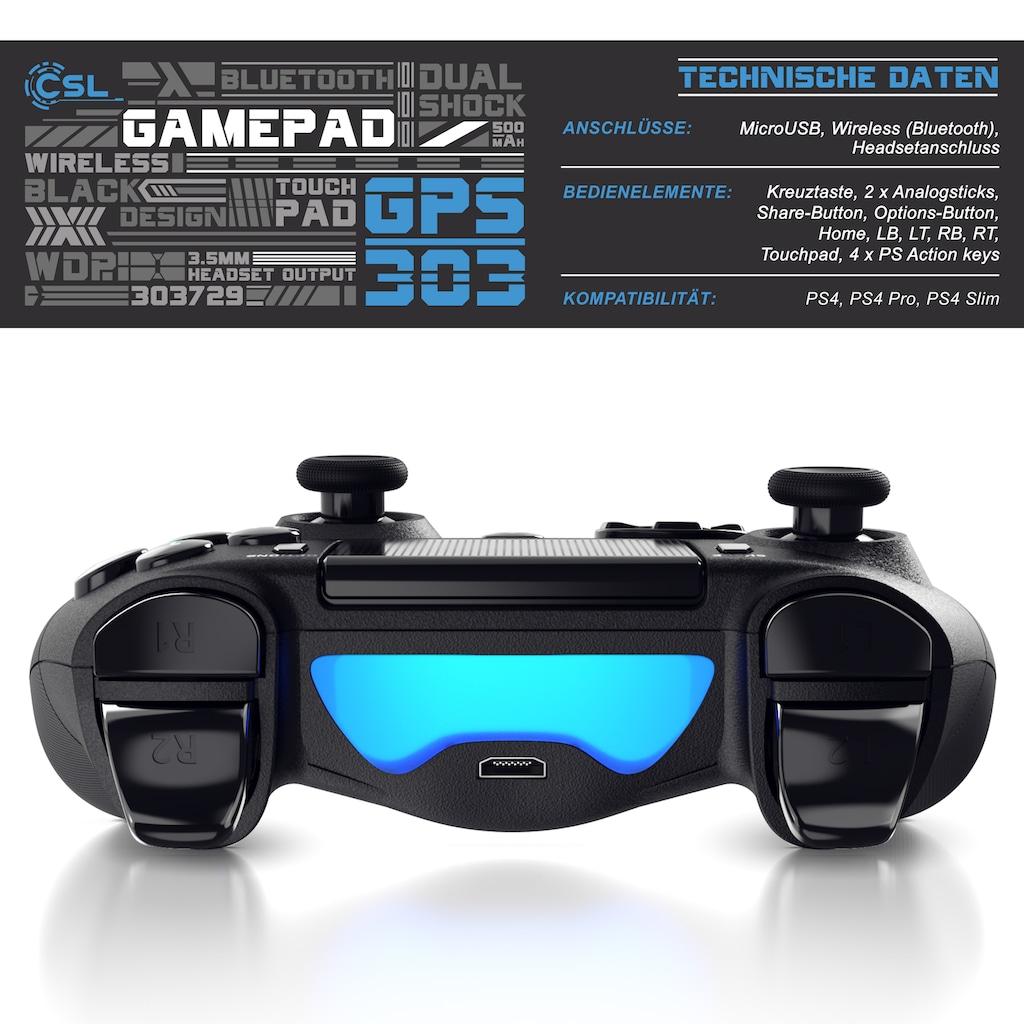 CSL Bluetooth Gamepad Controller mit Dual Vibration für PS4