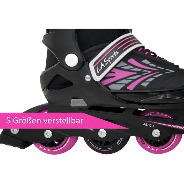 L.A. Sports Inlineskates »Inliner Skate Softboot Kinder Jugendliche Größenverstellung 5 Größen verstellbar«