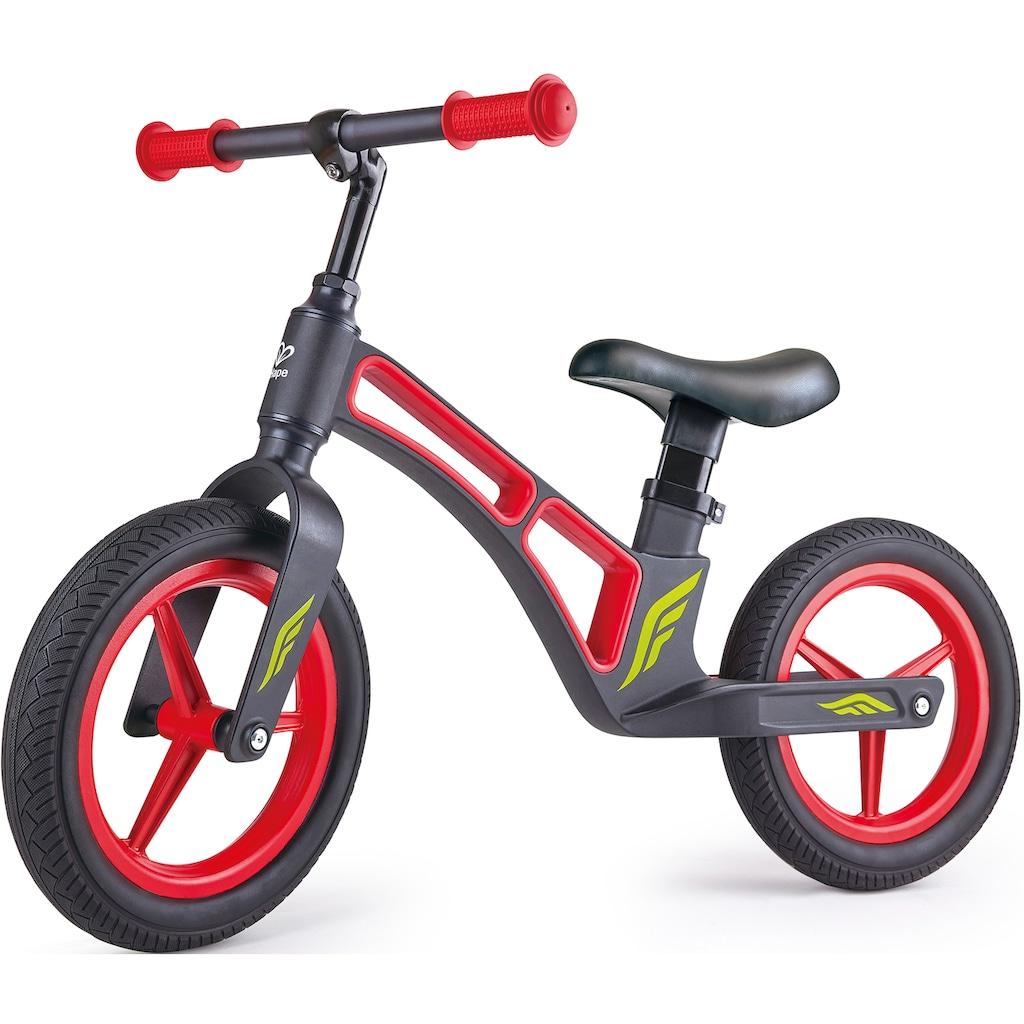 Hape Laufrad »Mein erstes Laufrad, Schwarz & Rot«, Rahmen und Felgen aus Magnesiumlegierung