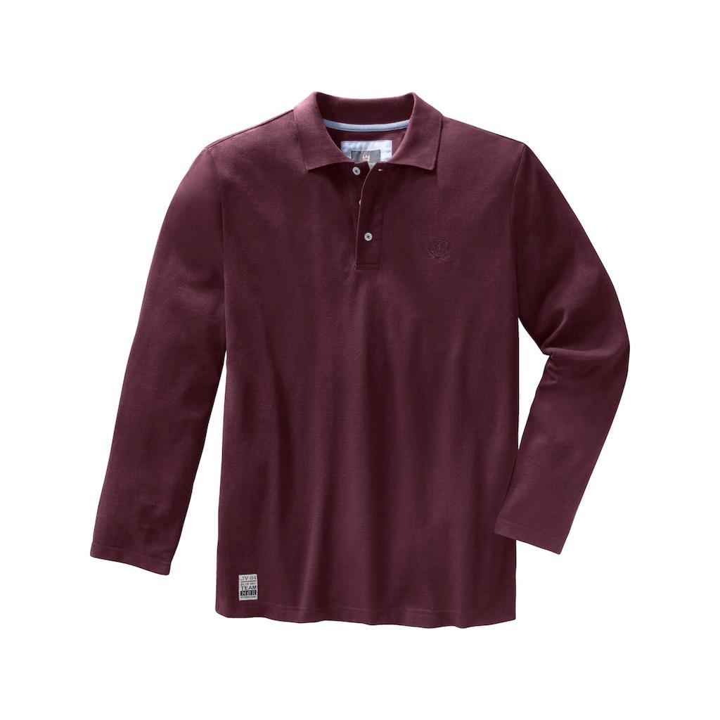 Jan Vanderstorm Langarm-Poloshirt »TORSON«, hochwertiges Baumwoll-Pikee