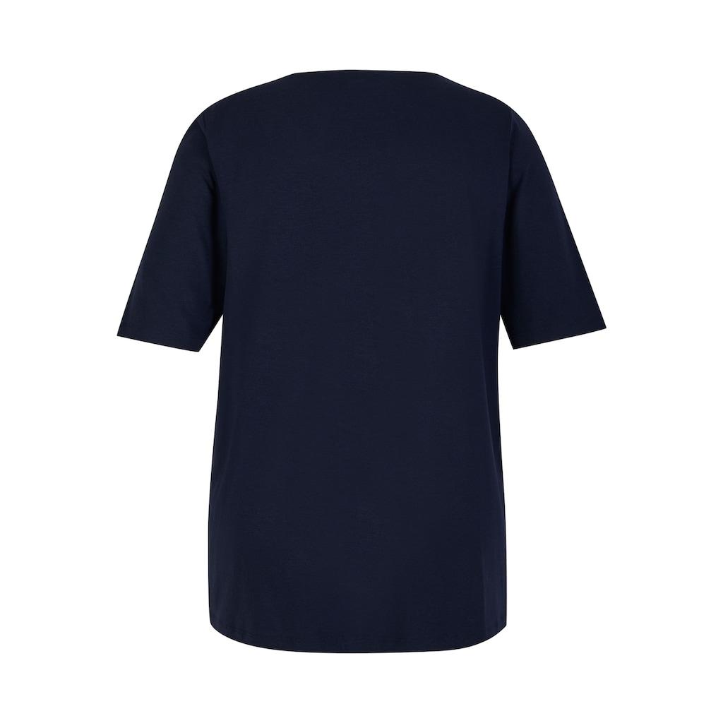 VIA APPIA DUE Rundhalsshirt, mit femininem Rundausschnitt