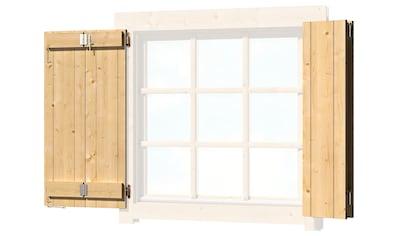 OUTDOOR LIFE PRODUCTS Fensterladen BxH: 54x54 cm, für Gartenhaus »Colorado« kaufen