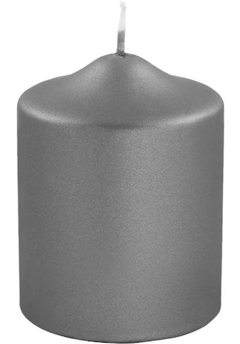 Fink Stumpenkerze, in Metallic-Optik, Höhe ca. 10 cm kaufen