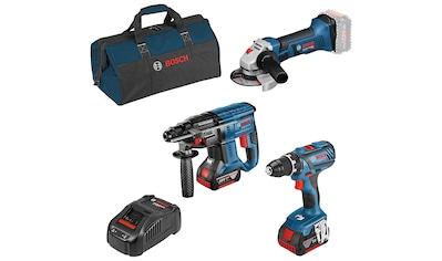 Bosch Professional Akku-Schrauber, mit 3 Werkzeugen, Werkzeugtasche, Akkus und Ladegerät kaufen
