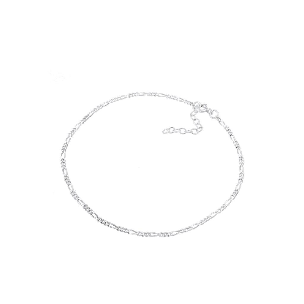 Elli Fußkette »Figaro Fußkettchen Basic 925 Silber«