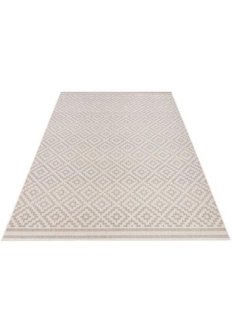 bougari Teppich »Raute«, rechteckig, 8 mm Höhe, In- und Outdoor geeignet, Wohnzimmer kaufen