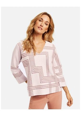 GERRY WEBER Rundhalspullover »Pullover mit Karodessin« kaufen