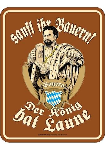 Rahmenlos Blechschild für den königstreuen Bayern - Fan kaufen