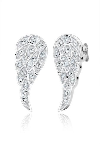 Elli Paar Ohrstecker »Flügel Kristalle 925 Silber« kaufen