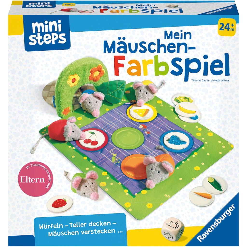 Ravensburger Spiel »ministeps®, Mein Mäuschen-Farbspiel«, Made in Europe, FSC® - schützt Wald - weltweit