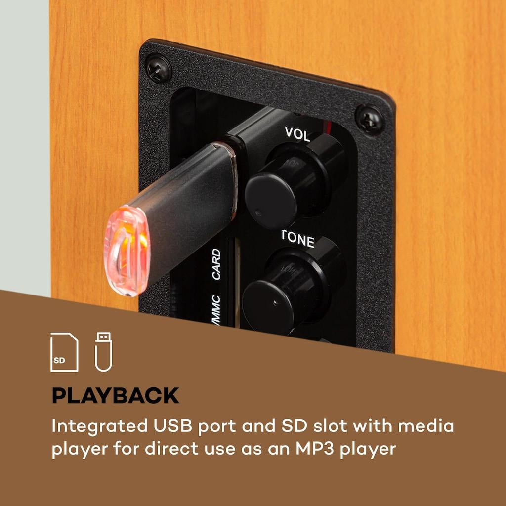 Auna Regallautsprecher Aktivboxen-Paar 2x20W Holz-Optik »Linie 400 A«