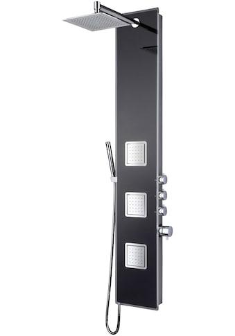 WELLTIME Duschsäule »Glassy Black«, Regendusche mit Wellnessfunktion, 132x28 cm kaufen