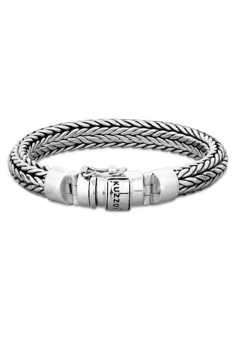 Kuzzoi Armband »Herren Kastenverschluss Zopfglieder 925er Silber« kaufen