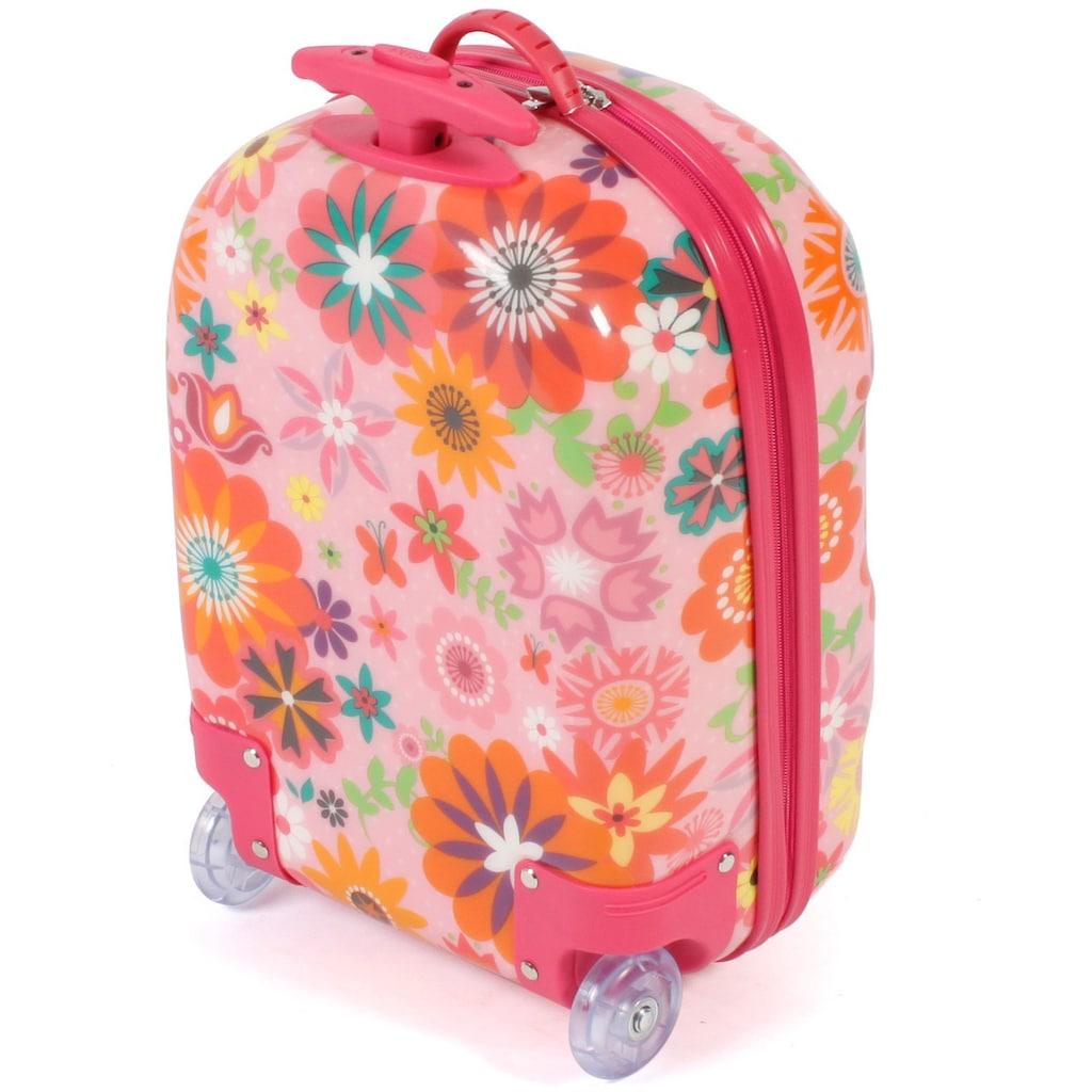 CHIC2000 Kinderkoffer »Bouncie, Flowers«, 2 Rollen, Hartschalen-Trolley