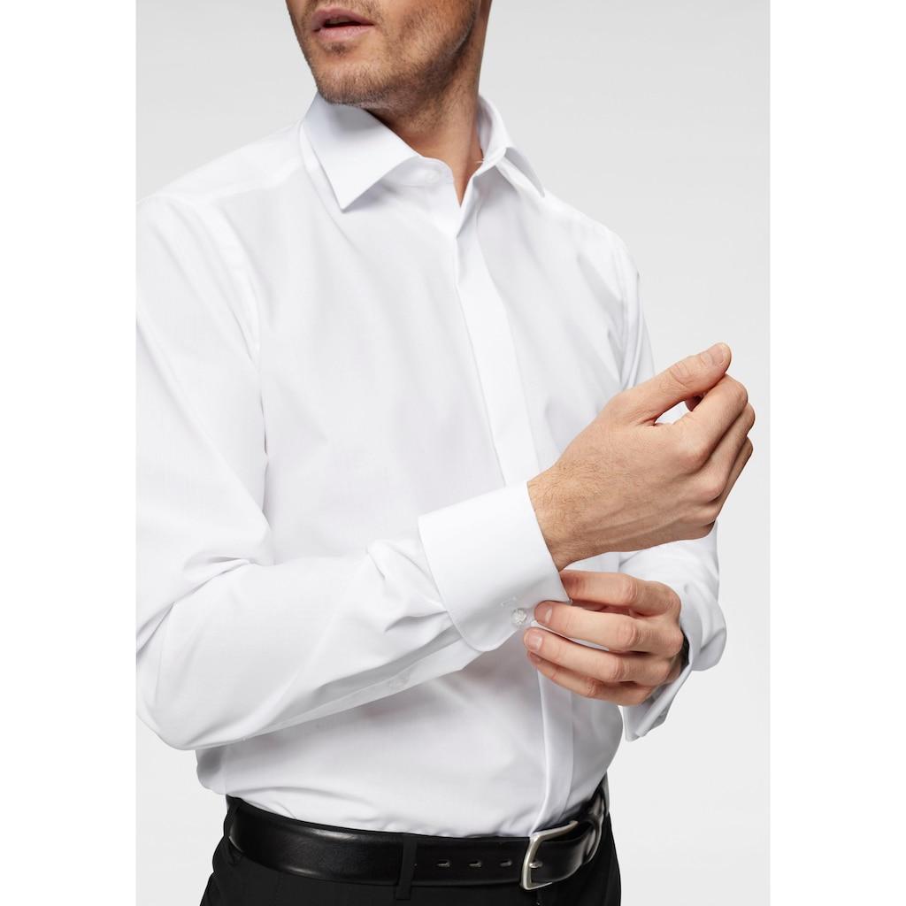OLYMP Smokinghemd »Luxor modern fit«, Umschlagmanschetten, verdeckte Knopfleiste, bügelfrei