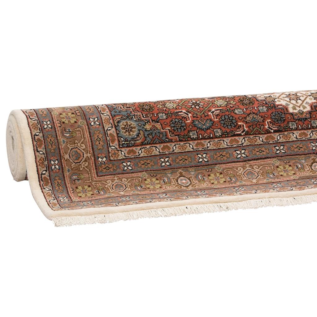 DELAVITA Orientteppich »Fares«, rechteckig, 12 mm Höhe, handgeknüpft, mit Fransen, Wohnzimmer