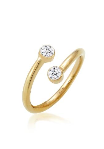 Elli Fingerring »Wickelring Kristalle Edel 925 Silber« kaufen