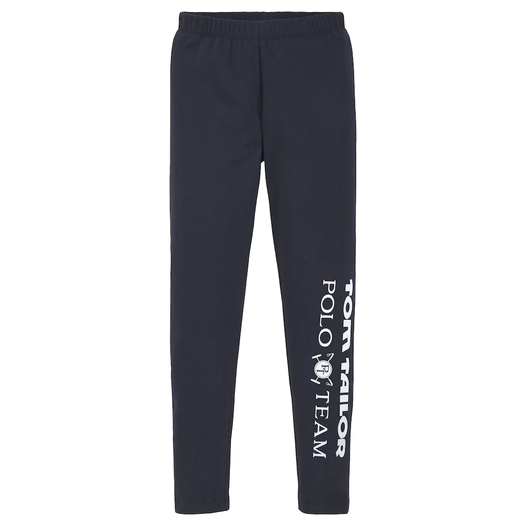 TOM TAILOR Polo Team Leggings, mit Logodruck